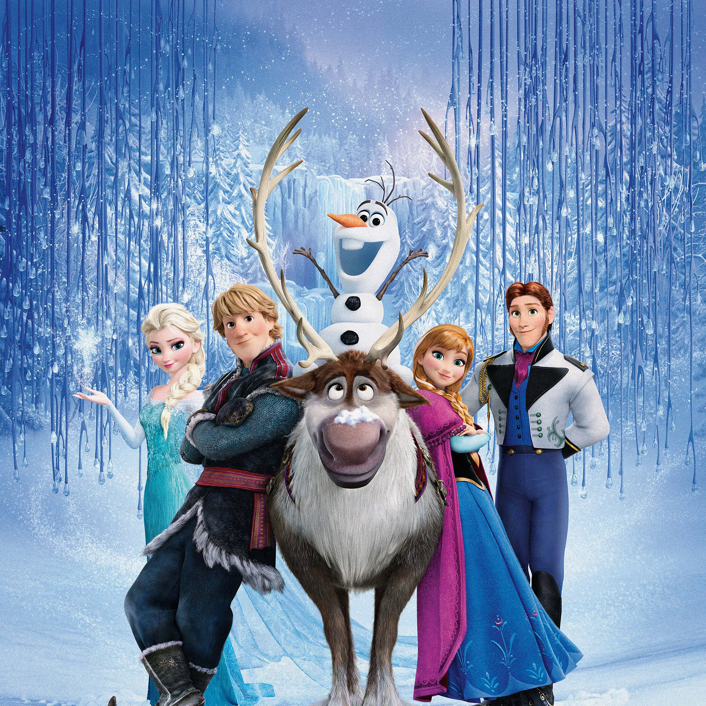 FREEIOS7 frozen family 2   parallax HD iPhone iPad wallpaper 2448x2448