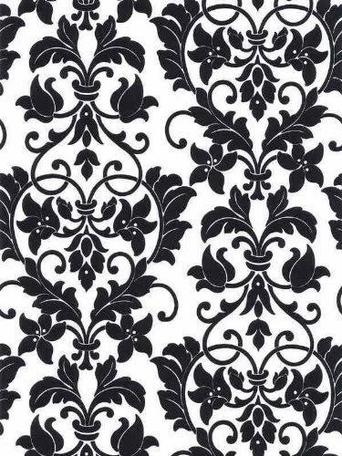 wallpaper black and white damask wallpaper black and white damask 375x500