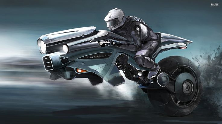 Flying Motorcycle Of The Future Background 1 HD Wallpapers 736x414