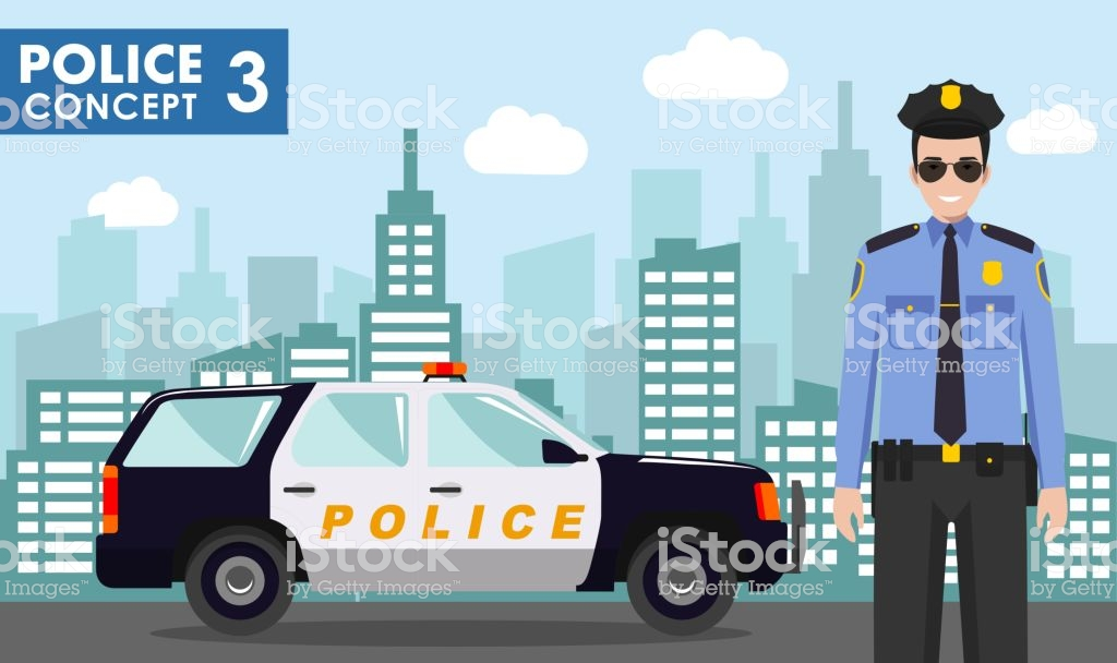 Police Concept Detailed Illustration Of Policeman On Background 1024x608