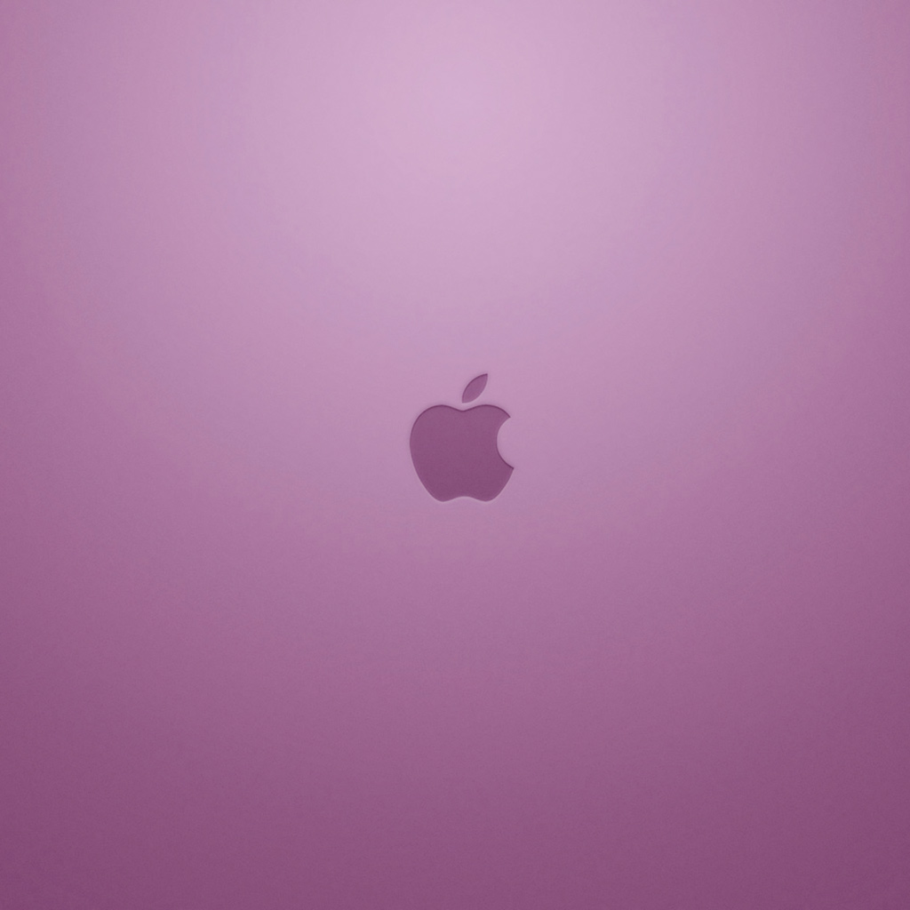 Pink Apple Logo iPad Wallpaper Download iPhone Wallpapers iPad 1024x1024