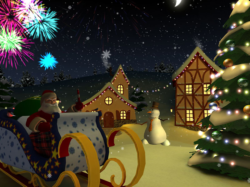 3D Christmas Holiday screensaver get the Christmas experience anytime 800x600