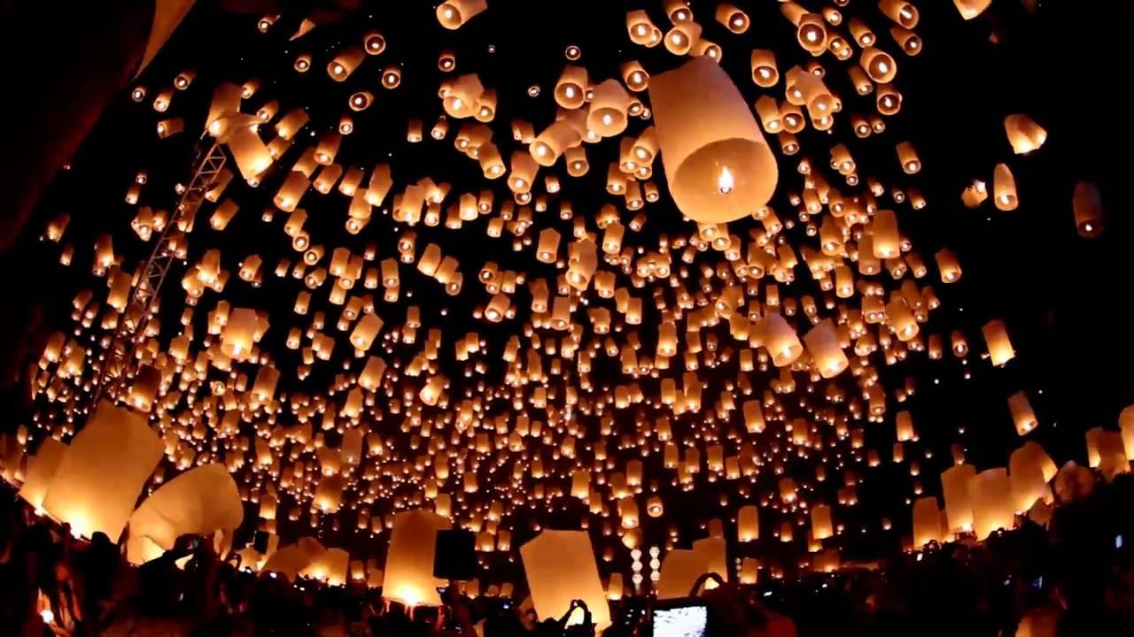 Floating Lanterns Festival   Yi Peng Loy Krathong   Chiang Mai 1280x720