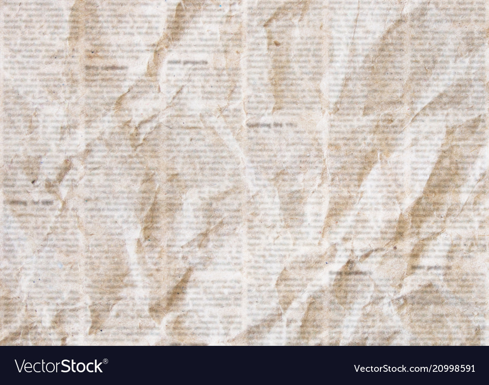 Old crumpled newspaper texture background Vector Image 1000x787
