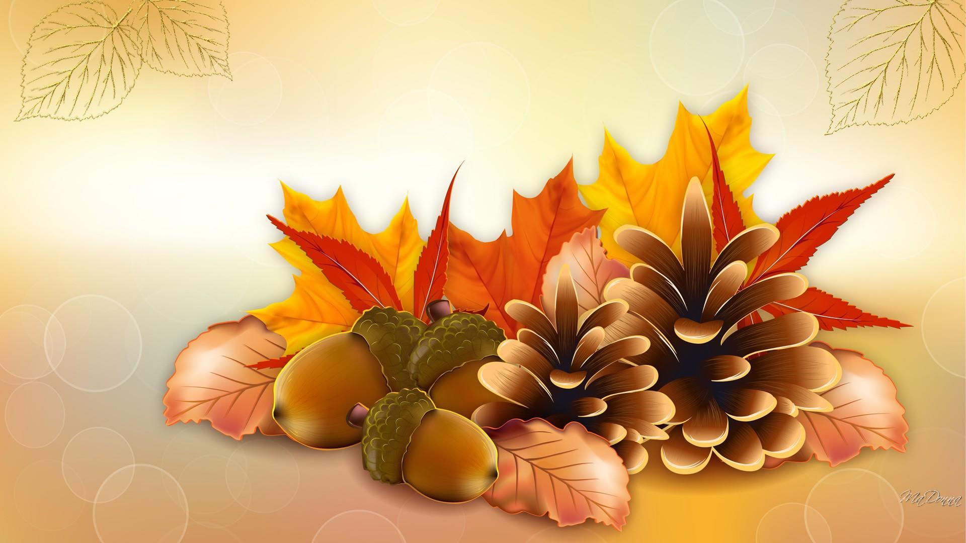 Thanksgiving Fall Vector Hd Wallpaper List 1920x1080