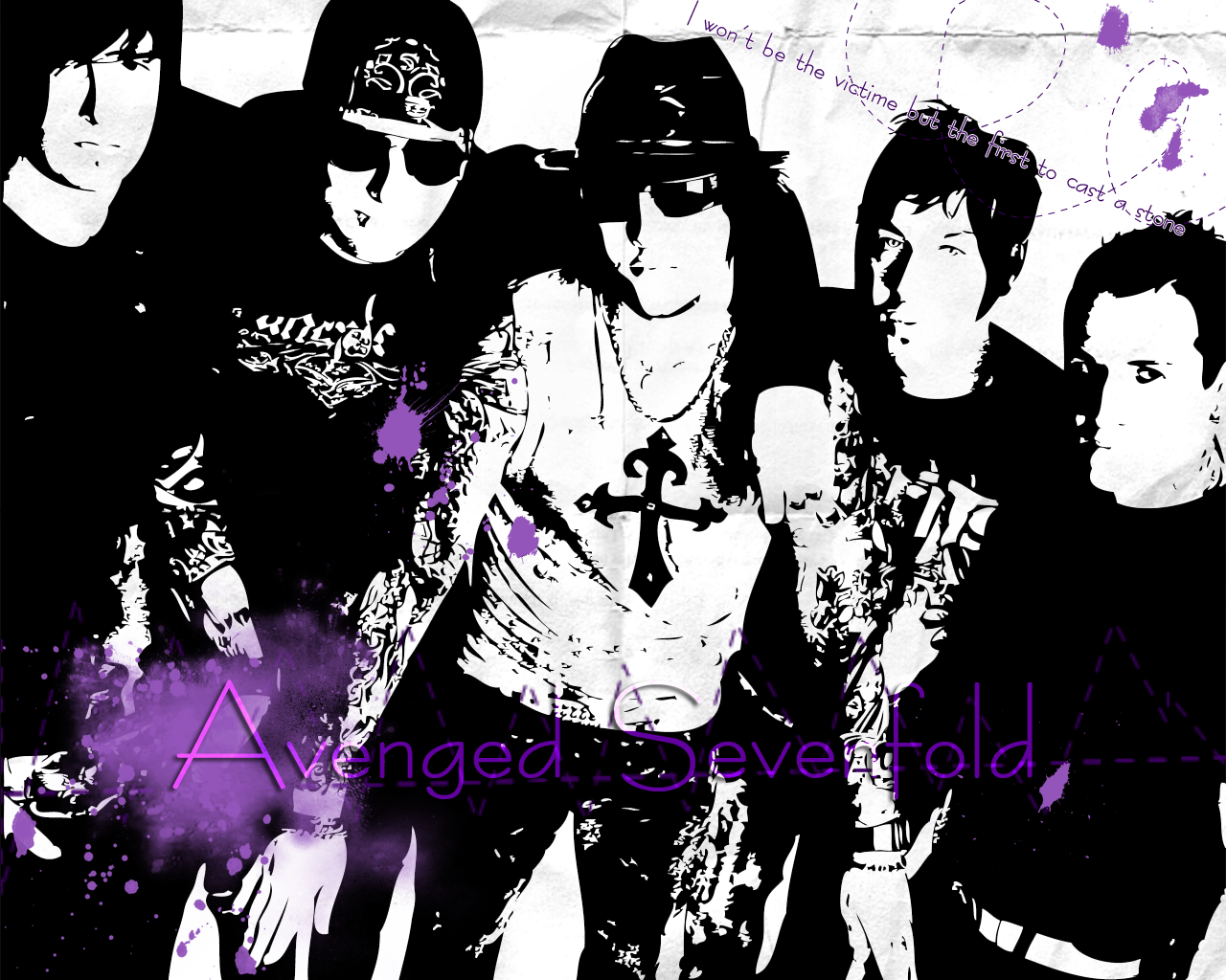 Download Wallpaper Avenged Sevenfold 1280x1024