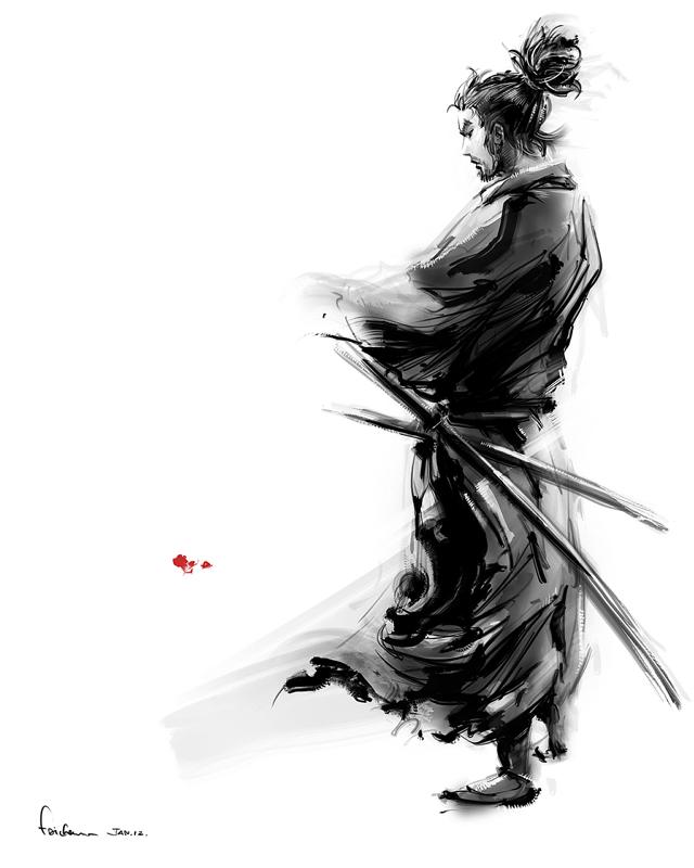Miyamoto Musashi by alex faichan 640x800