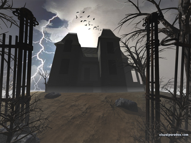 Paradox 3D Wallpaper Haunted House multiple wallpaper sizes 640x480