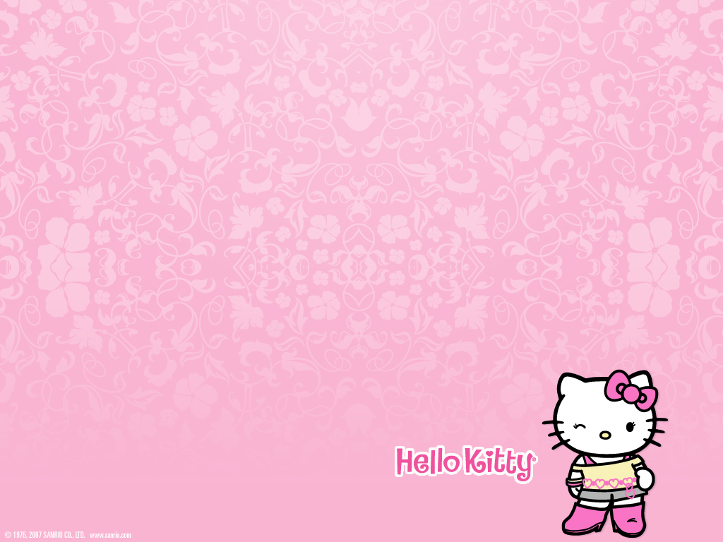 Wallpaper Background Hello Kitty 1024x768