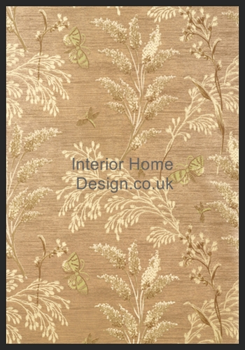 Thibaut Wallpaper   Avalon   Butterfly Garden T9262 Metallic Gold 350x500