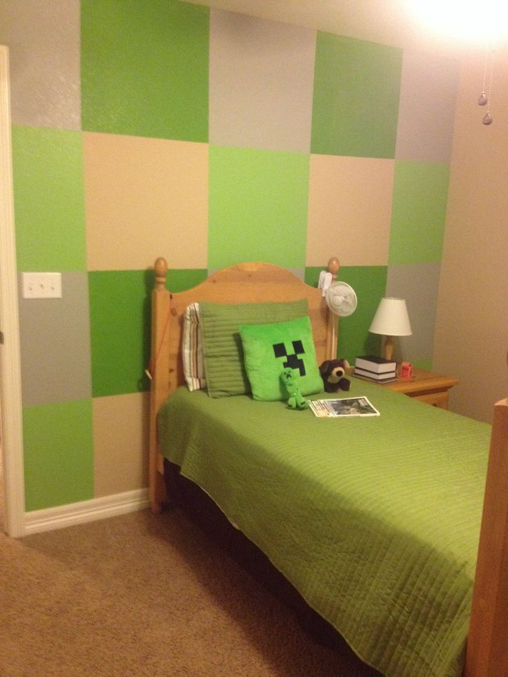 Minecraft Kids Bedroom Boys minecraft bedroom 736x981