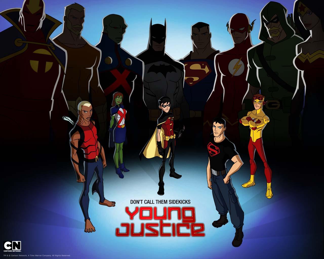 YOUNG JUSTICE WALLPAPERS JUSTICIA JOVEN VIZIO BLOG 1280x1024