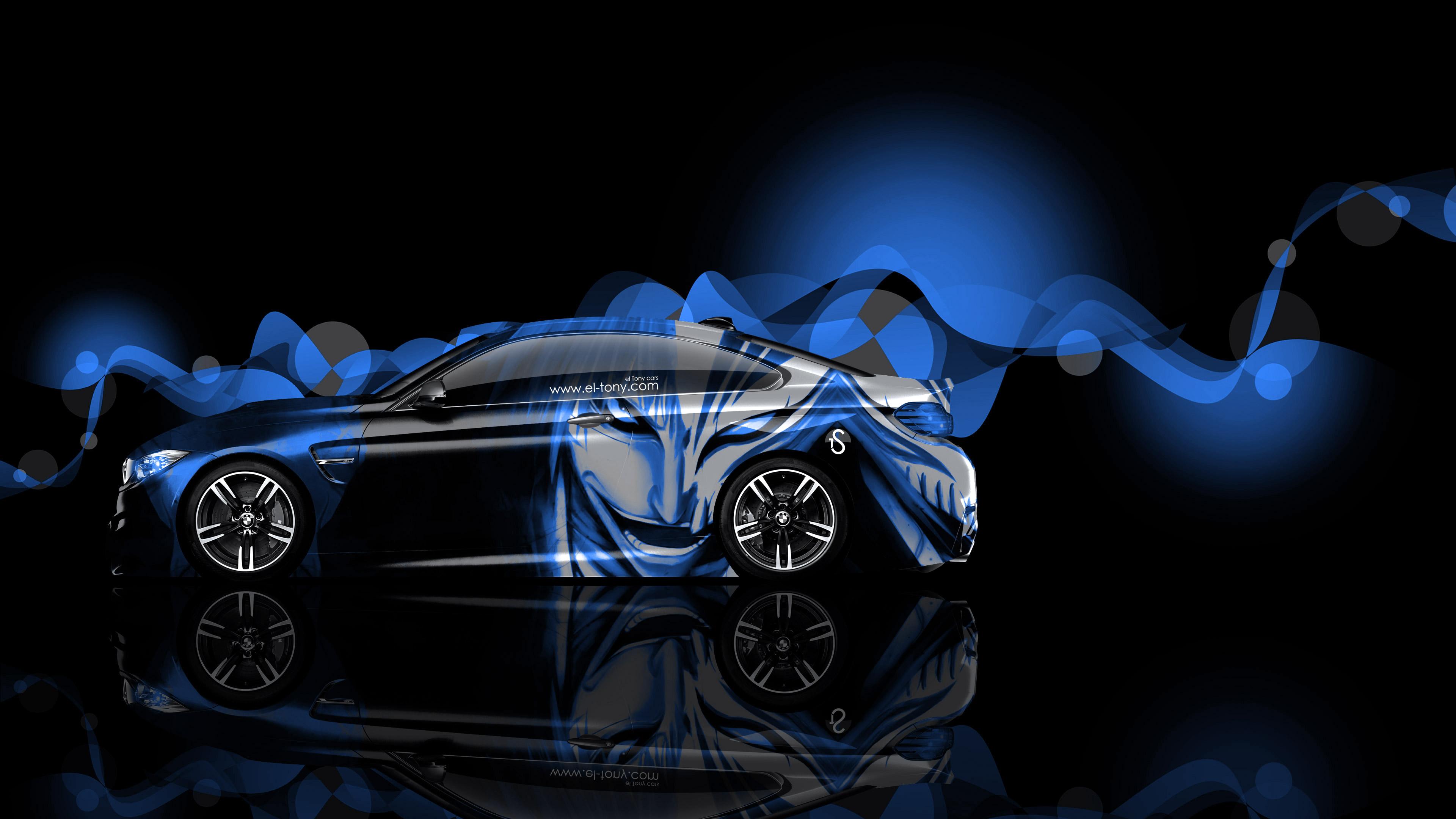 download 4K BMW M4 Coupe Side Anime Aerography Car 2014 el 3840x2160