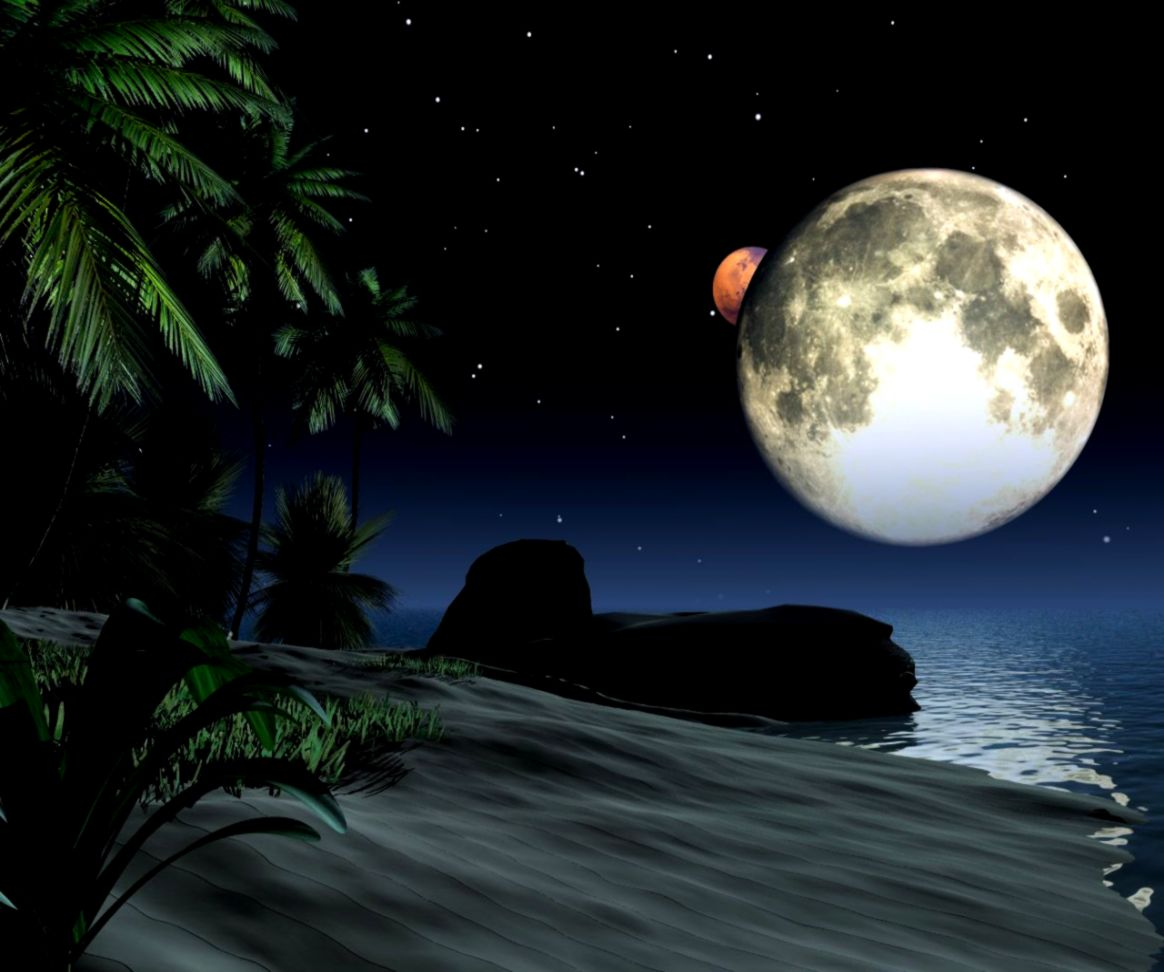 Beautiful Moon Backgrounds Nababan Wallpapers 1164x972