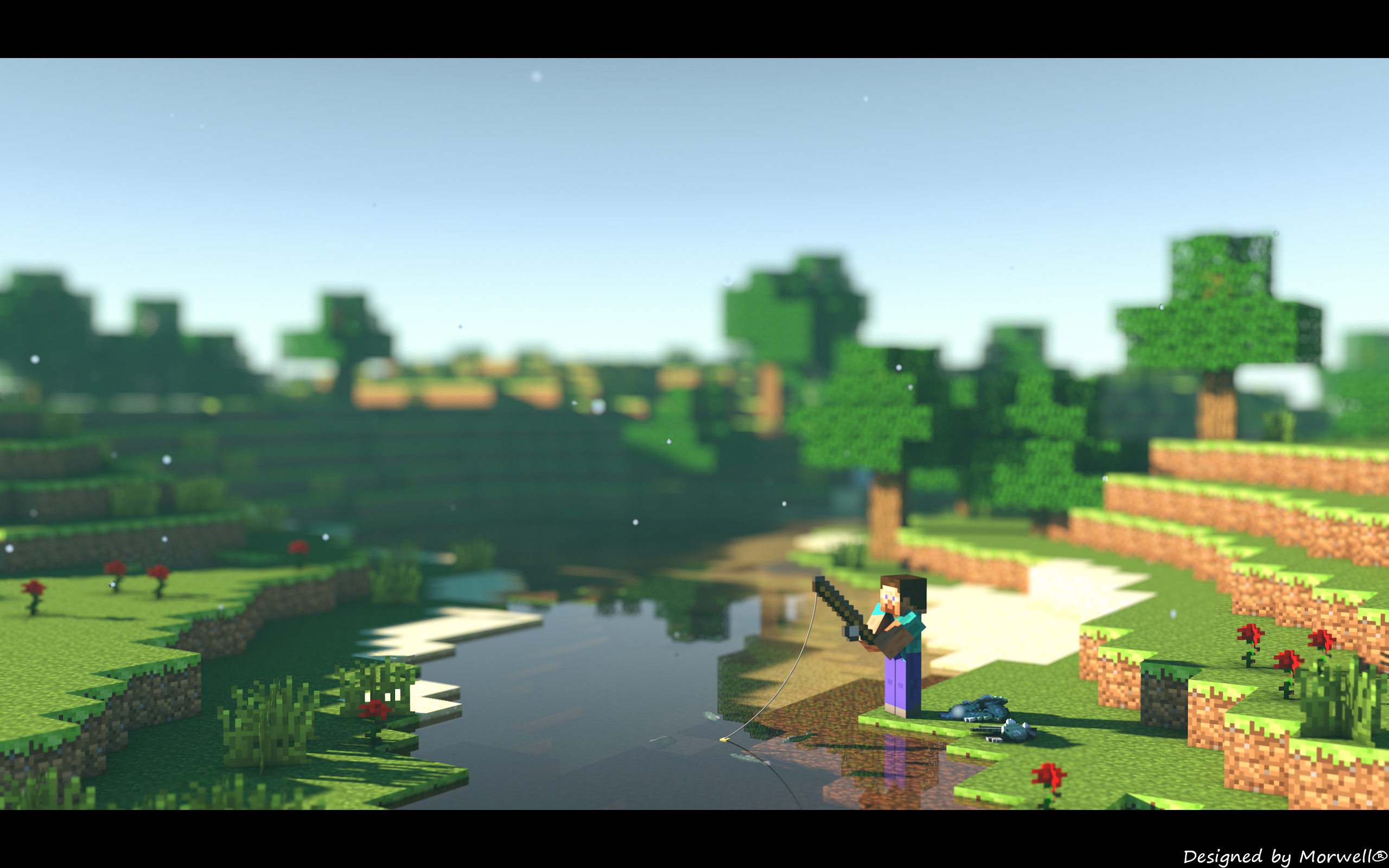 minecraft 2560x1440 channel art wwwpixsharkcom