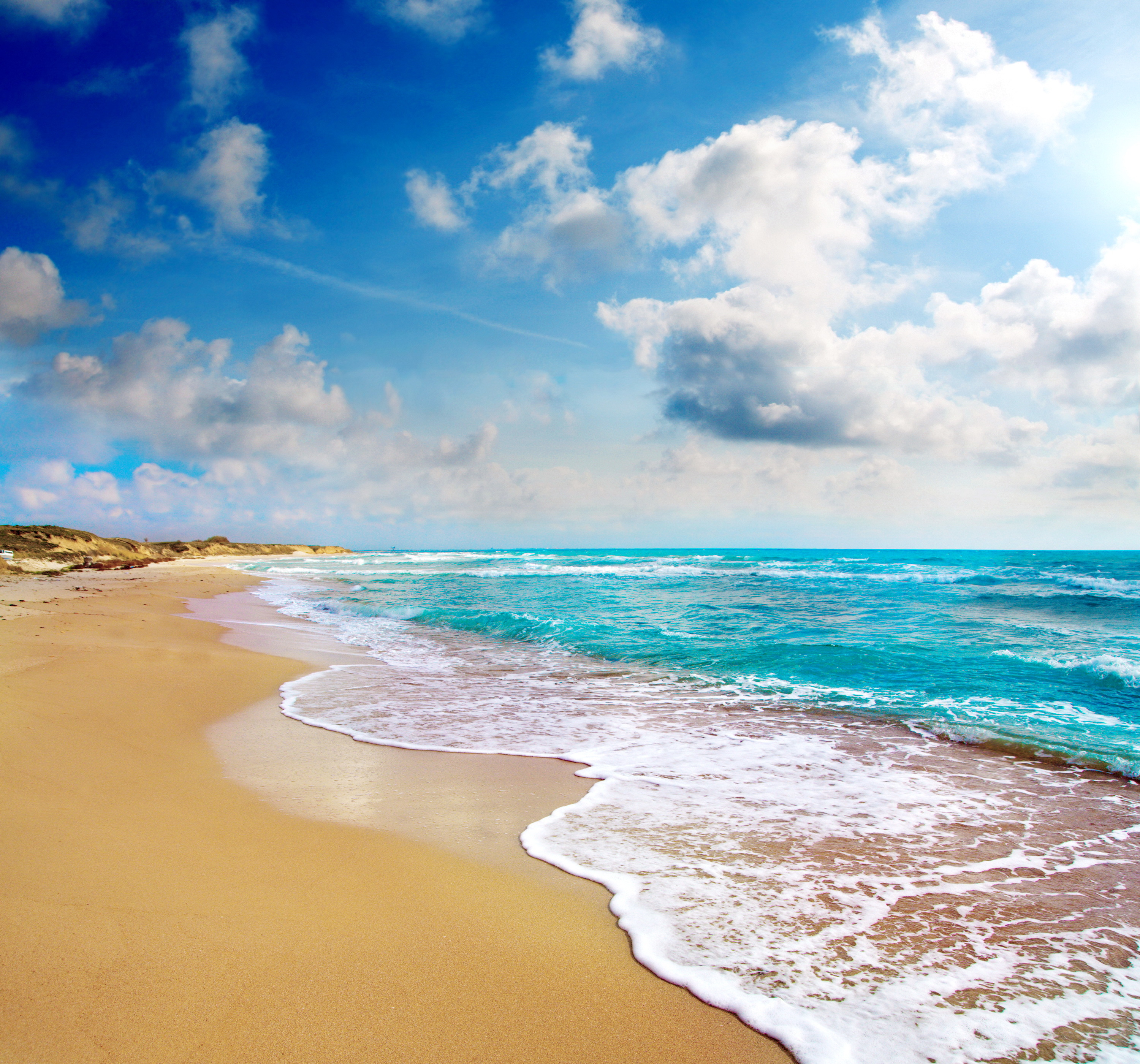Tropical Beach And Peaceful Ocean: Paradise Beach Wallpaper