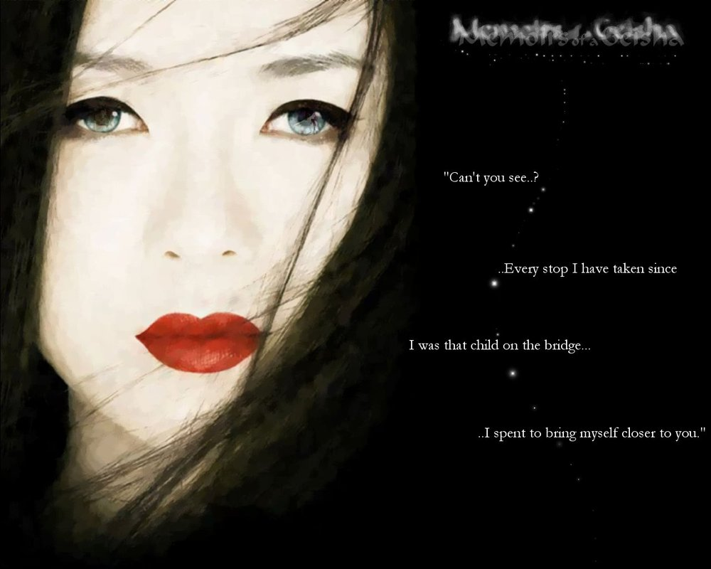 Memoirs of a Geisha Wallpaper by CelestiStar 1000x800