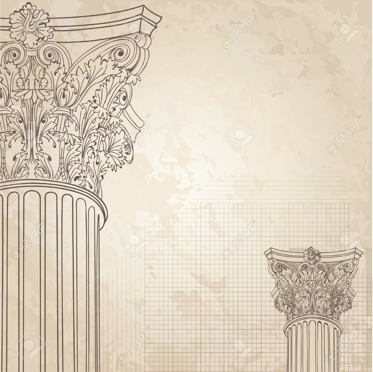 Classic Columns Seamless Background Roman Corinthian Column 1300x1296