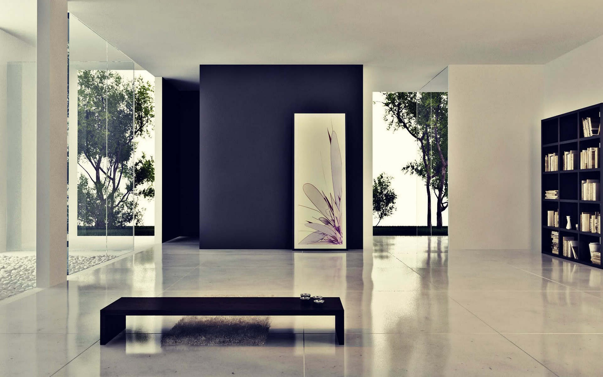Livingroom Modern Interior Home Design Wallpaper Image 1920x1200