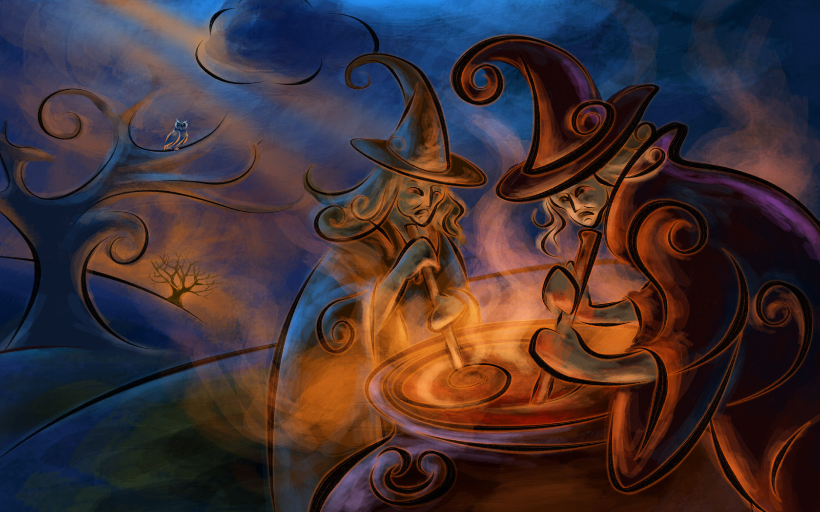 Witches wallpapers Witches background 1680x1050