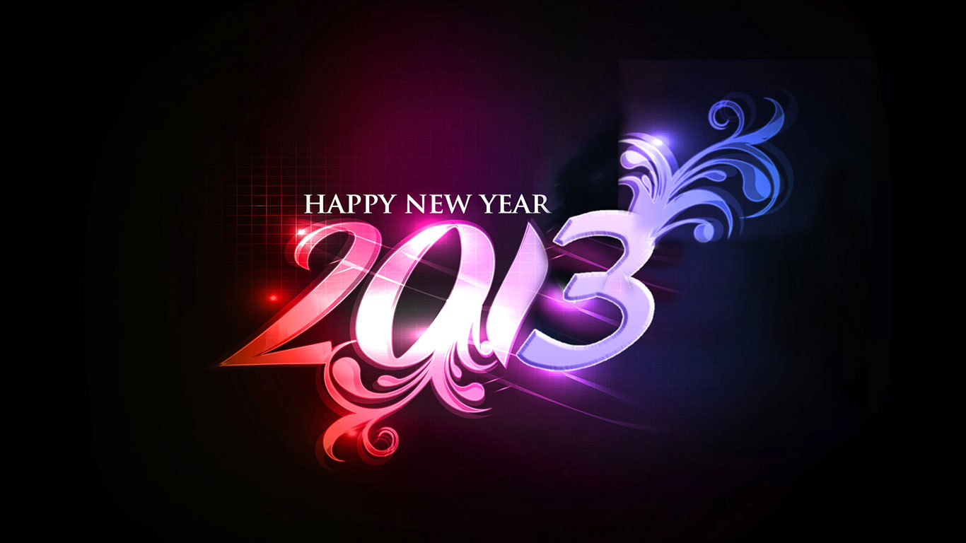 2013 Happy New Year Wallpaers 2013 New Year Quotes Wishes Greetings 1366x768