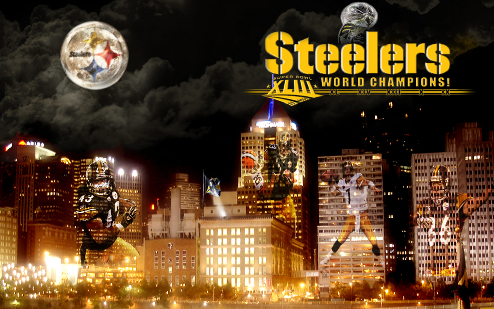 Enjoy this new Pittsburgh Steelers desktop background 1680x1050