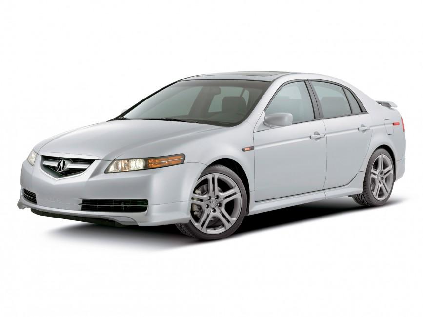 Acura Tl 2004 White Side View Style Auto   Stock Photos 867x650