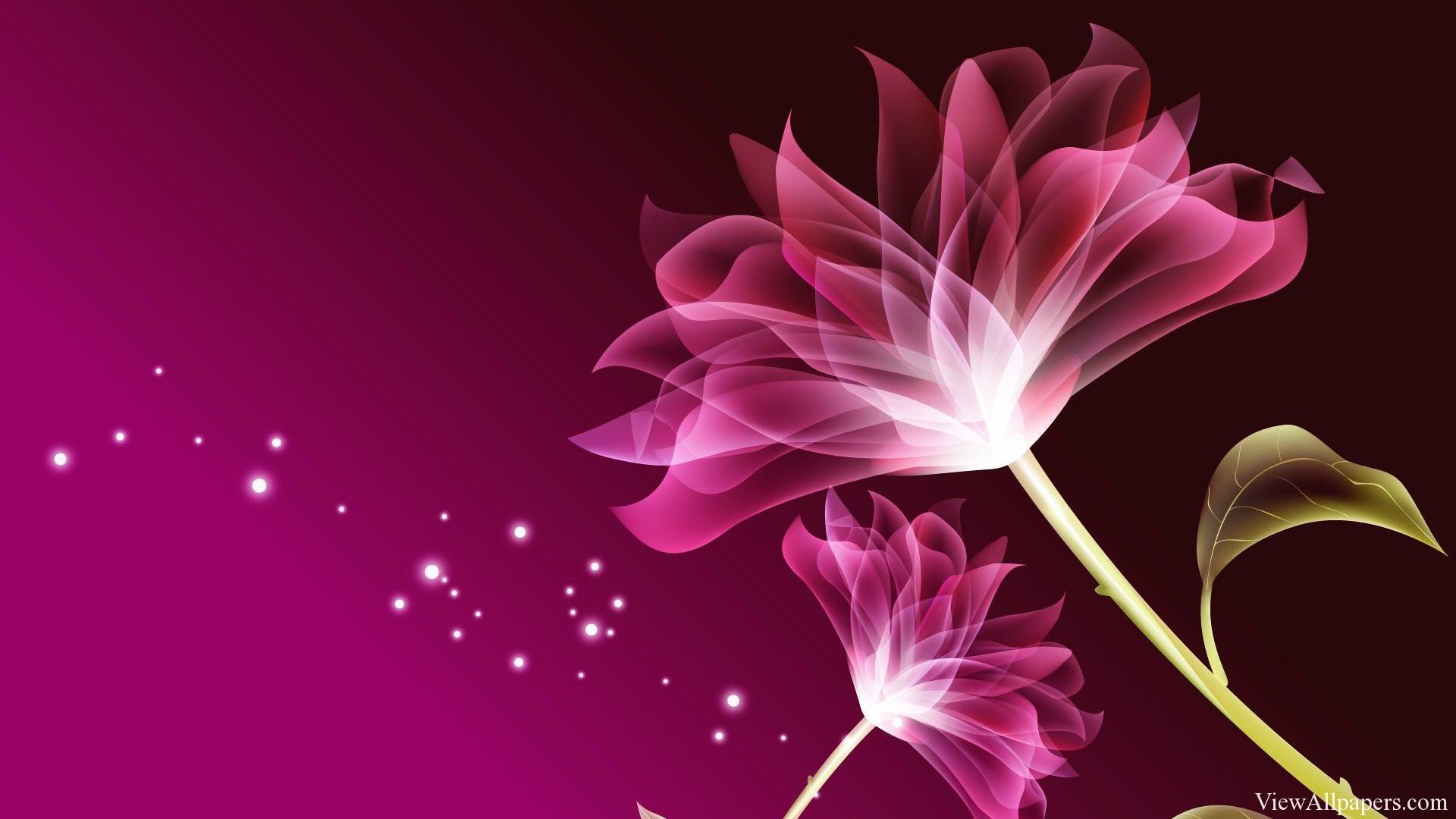 3D Pink Beautiful Flower Wallpaper by viewallpaperscom 1920x1080