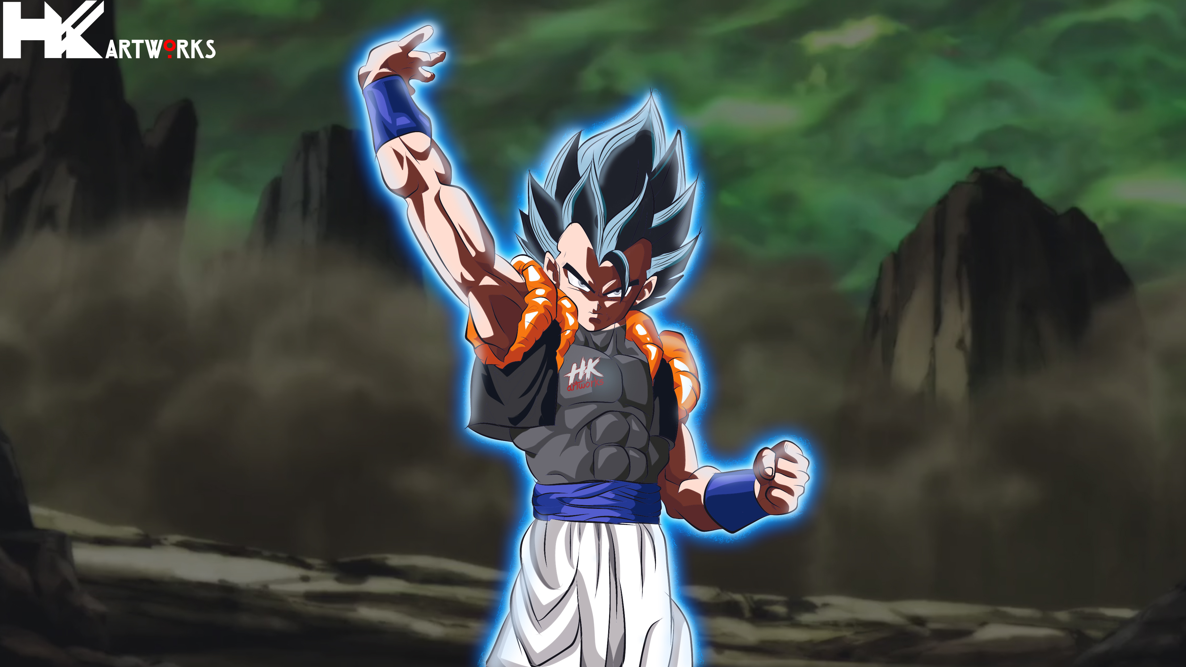 Gogeta Ultra instinct Art by Hkartworks99 3840x2160