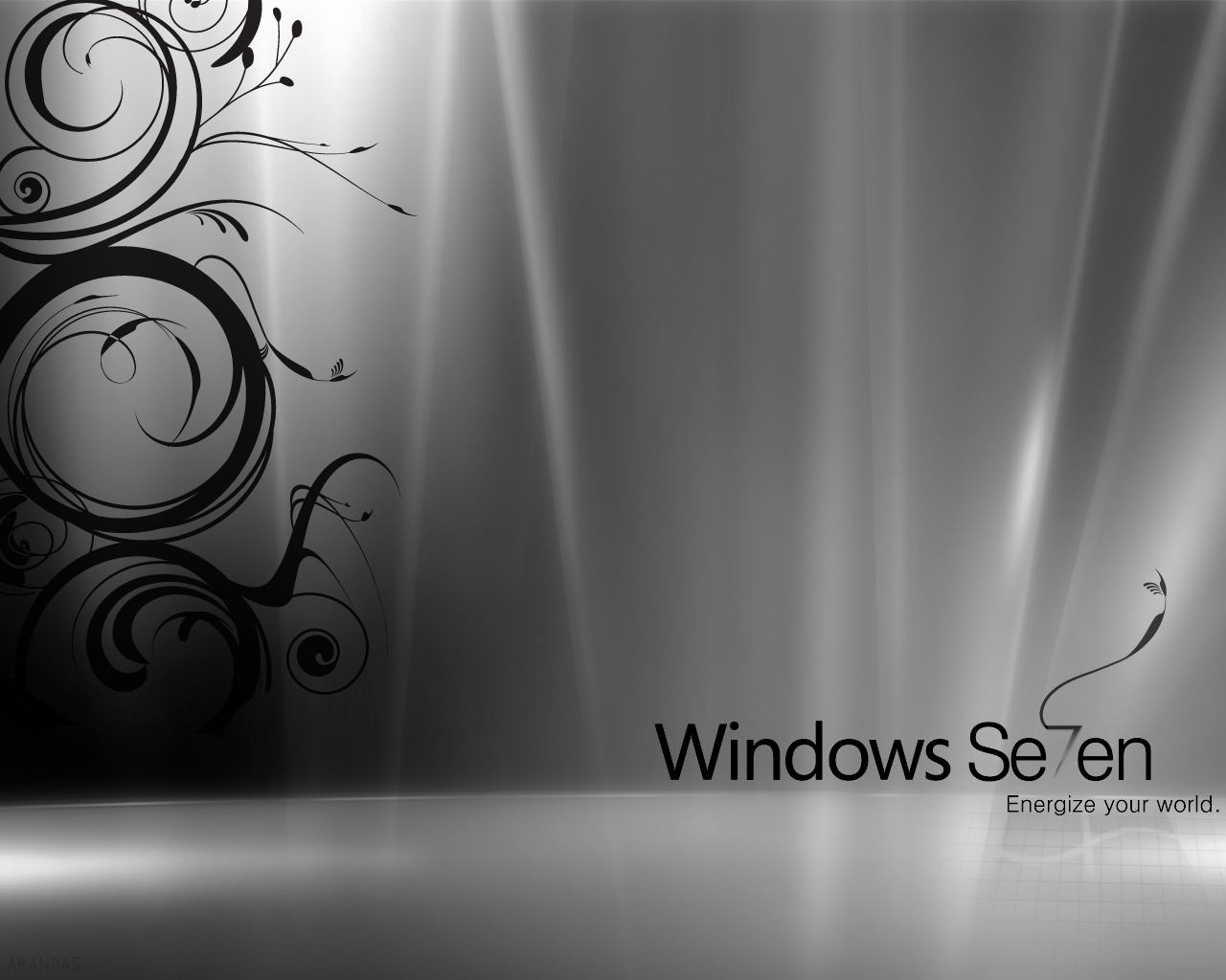 Windows 7 Black White Wallpapers HD Wallpapers 1280x1024
