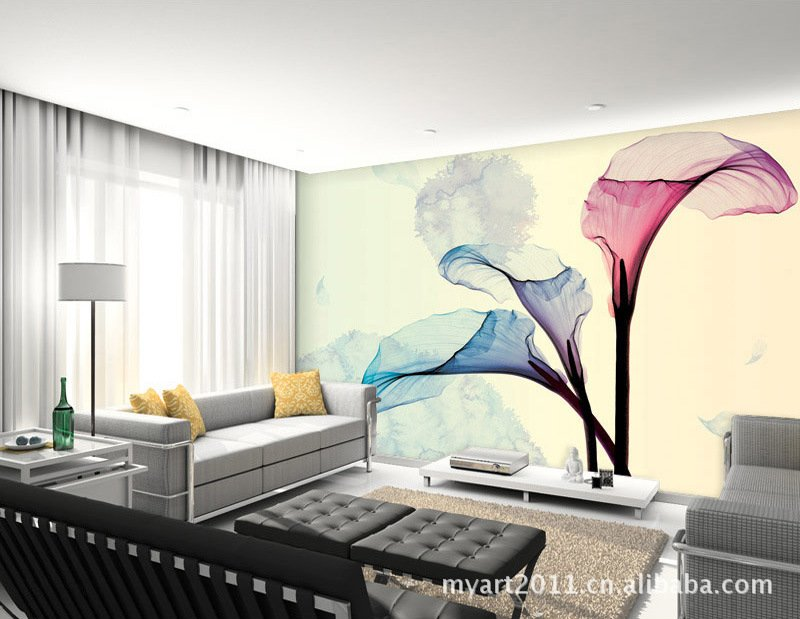 Wallpaper for home decor with ideas New Wall painting designs ideas 800x619
