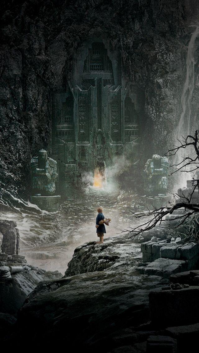 Bilbo stands before Erebor Mobile wallpaper The Lord Peter Jackson 640x1136