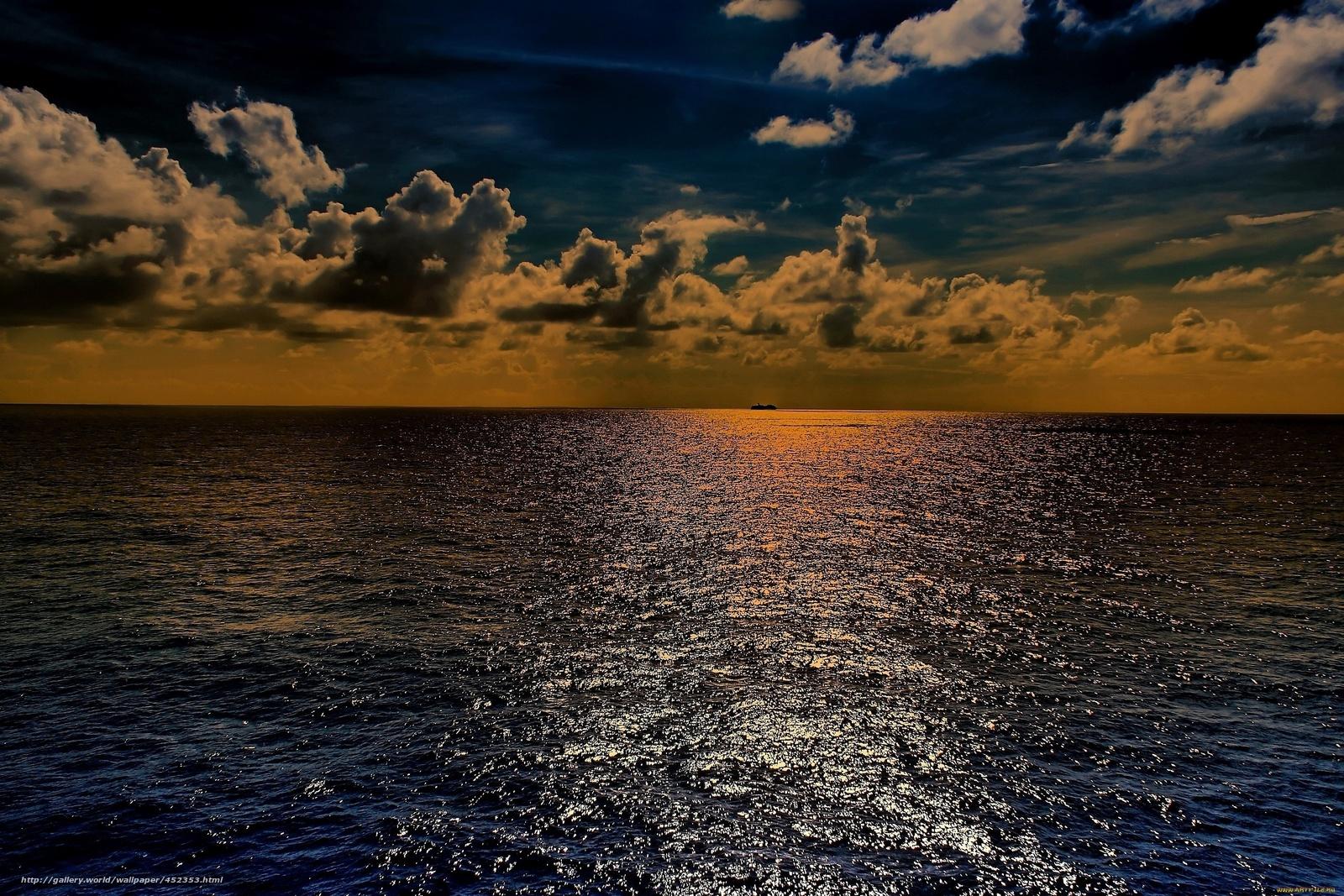 Download wallpaper sea clouds Sunrise desktop wallpaper in the 1600x1067