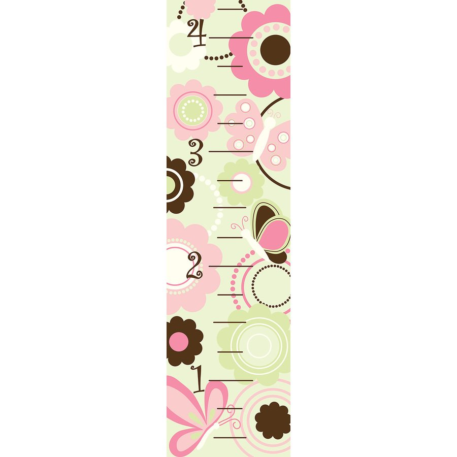 WallPops Peel and Stick Butterfly Garden Growth Chart Whimsical Wall 900x900