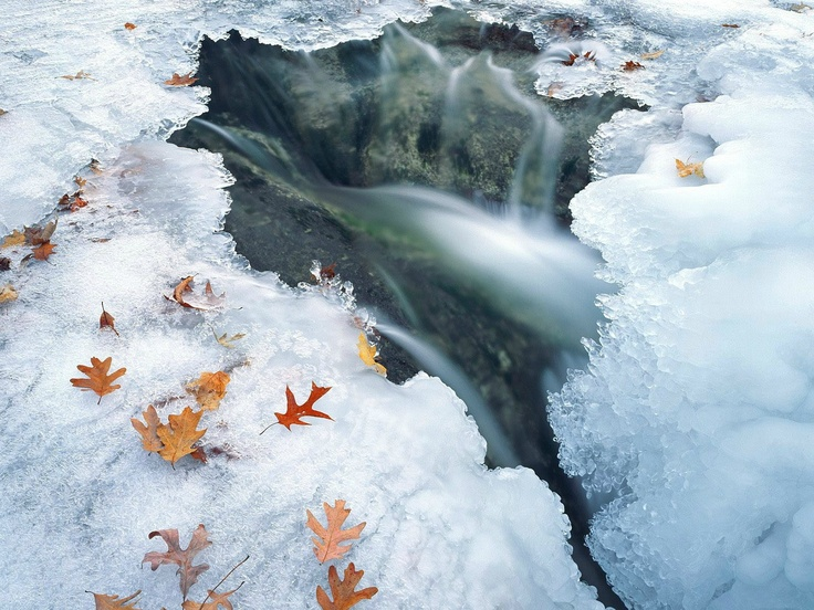 Ice cold waterfall Water Pinterest 736x552