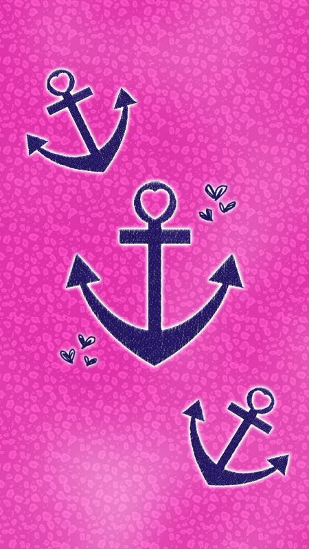 pink anchor wallpaper wallpapersafari