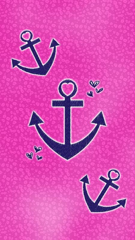 Anchors Wallpaper Pink Anchor 450x799