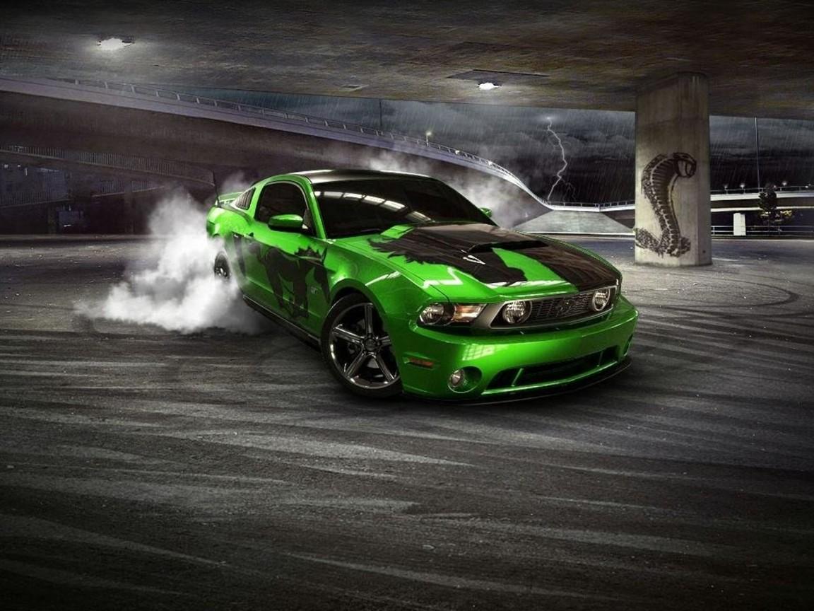 Free Download Feford Mustang Gtr Drift 1080p Hd Wallpaper