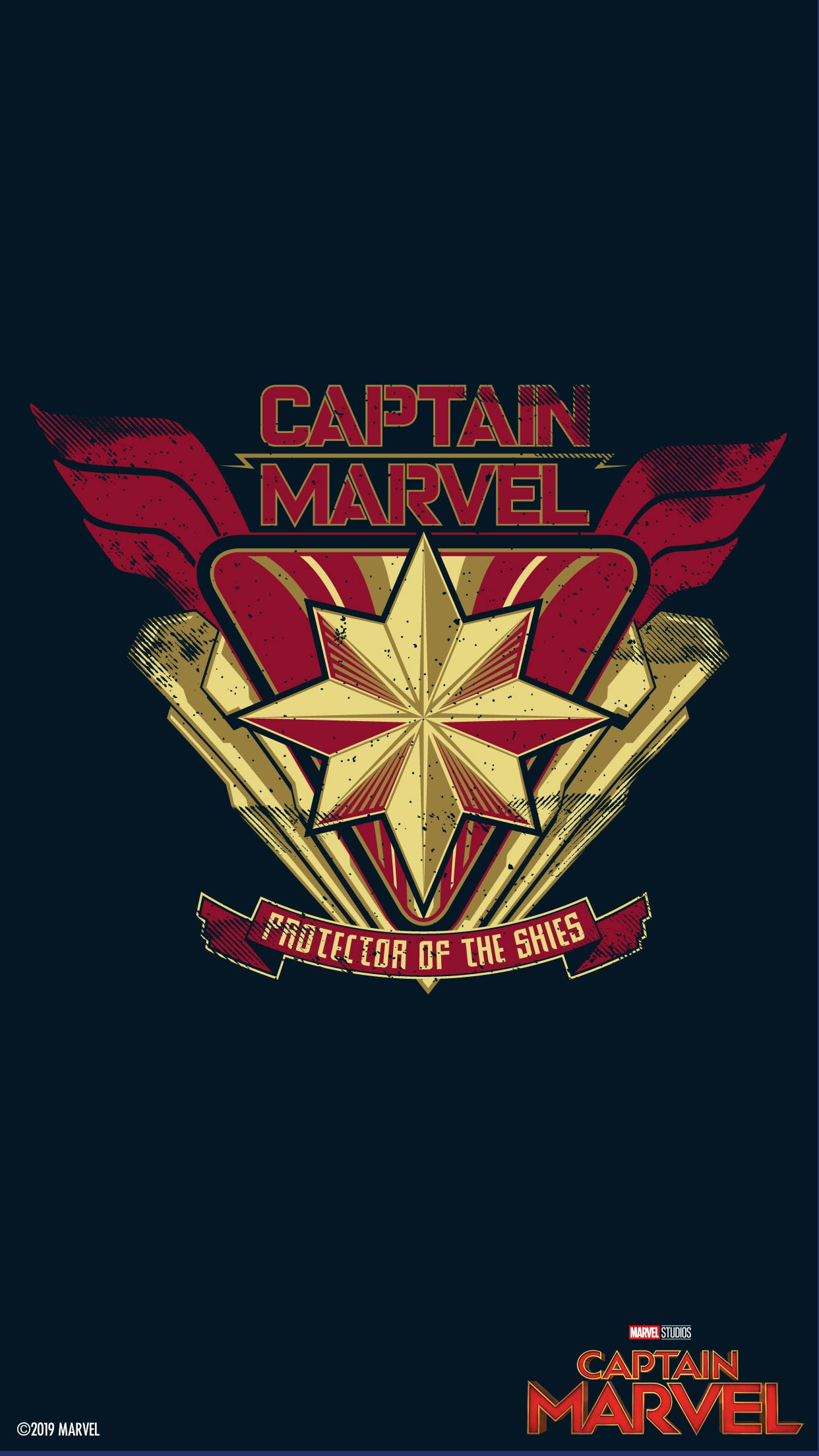 23 Captain Marvel Logo Wallpapers On Wallpapersafari