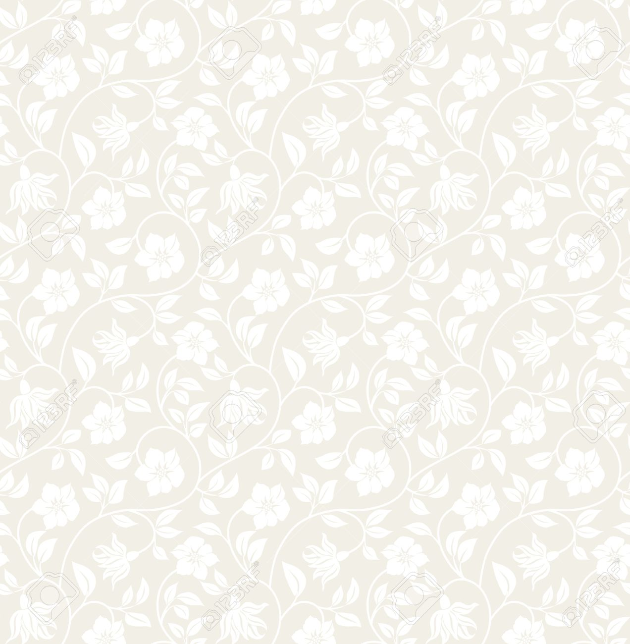 Floral Seamless Background   Pattern For Continuous Replicate 1272x1300