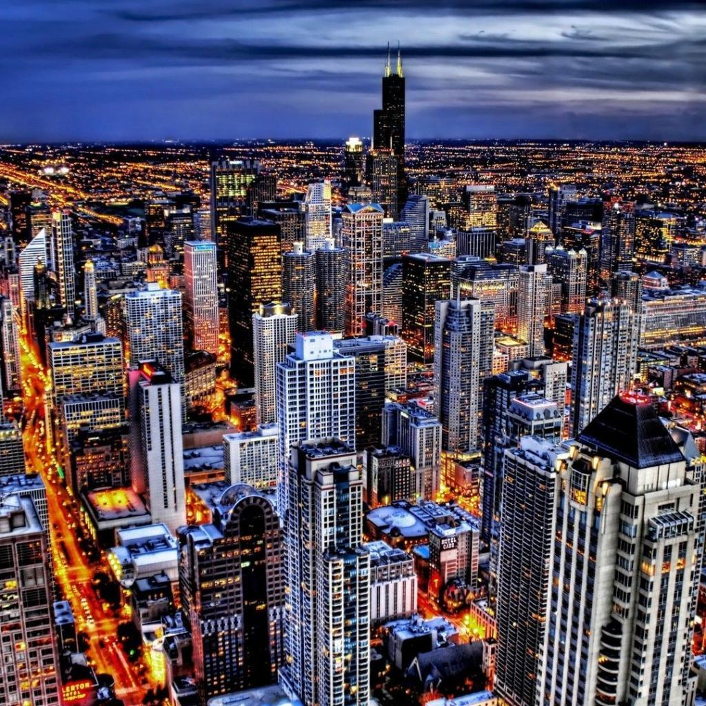 Chicago Skyline Wallpaper HD