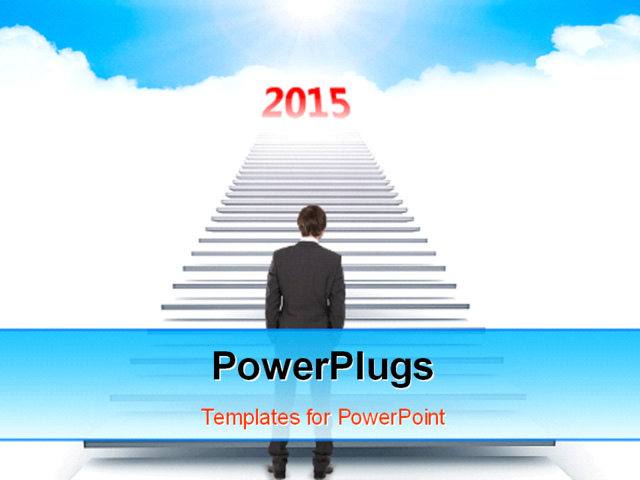 Success in year 2015 PowerPoint Template Background of business 640x480