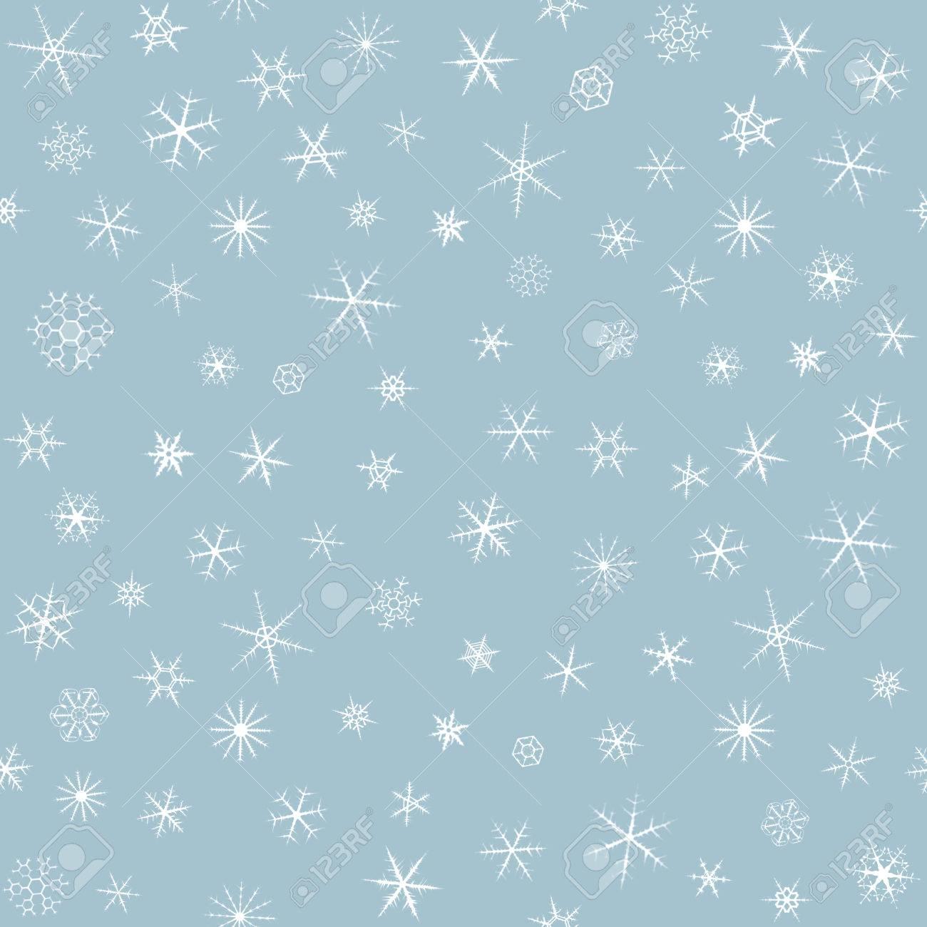 Copos De Nieve En El Cielo Gris Patrn Backgroundseamless 1300x1300
