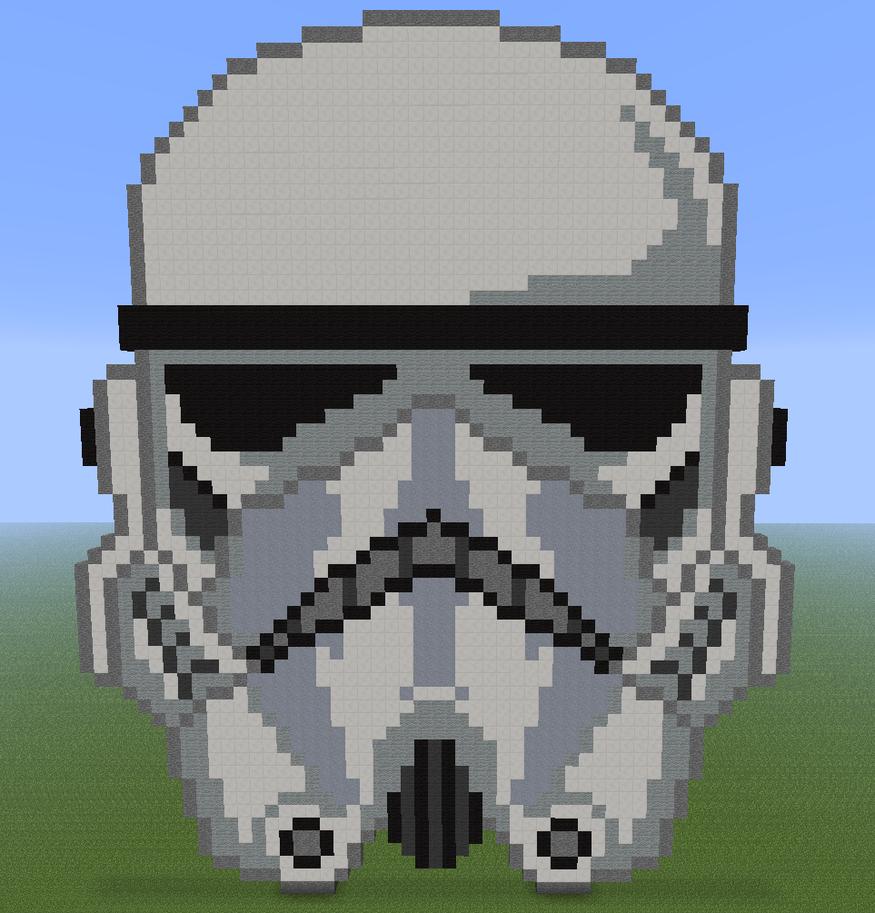 Free Download Minecraft Pixel Art Star Wars Stormtrooper By