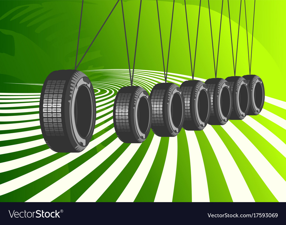 Car tires on green background Royalty Vector Image 1000x787