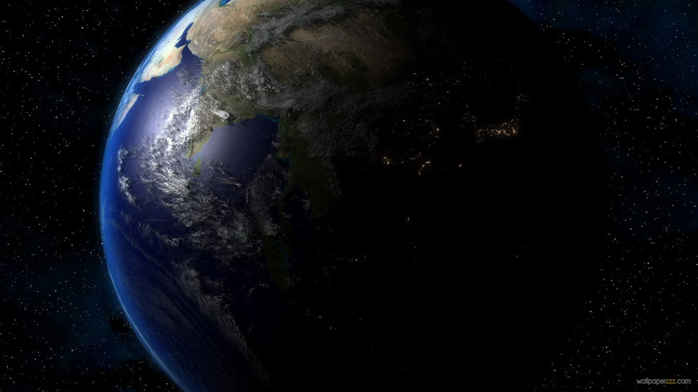 Earth from space wallpaper hd wallpapersafari for Space wallpaper 1366x768