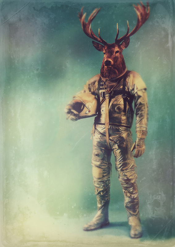 Deer astronaut cosmonaut space suit costume by Rubbishmonkey 566x800