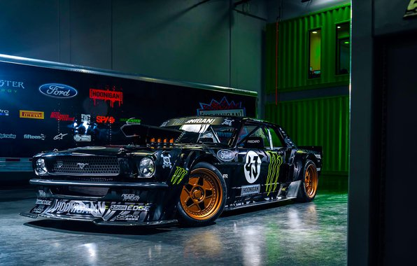 Ford mustang rtr 1965 hoonicorn 845 hp gymkhana seven front 596x380