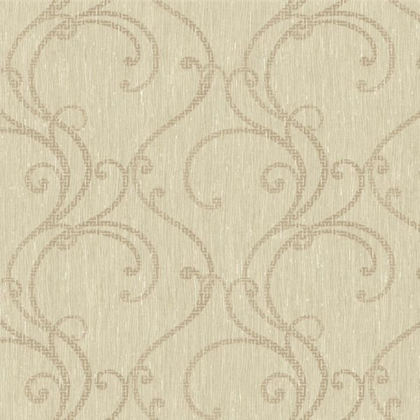 Grey and Beige Contemporary Ogee Wallpaper   Wall Sticker Outlet 600x600