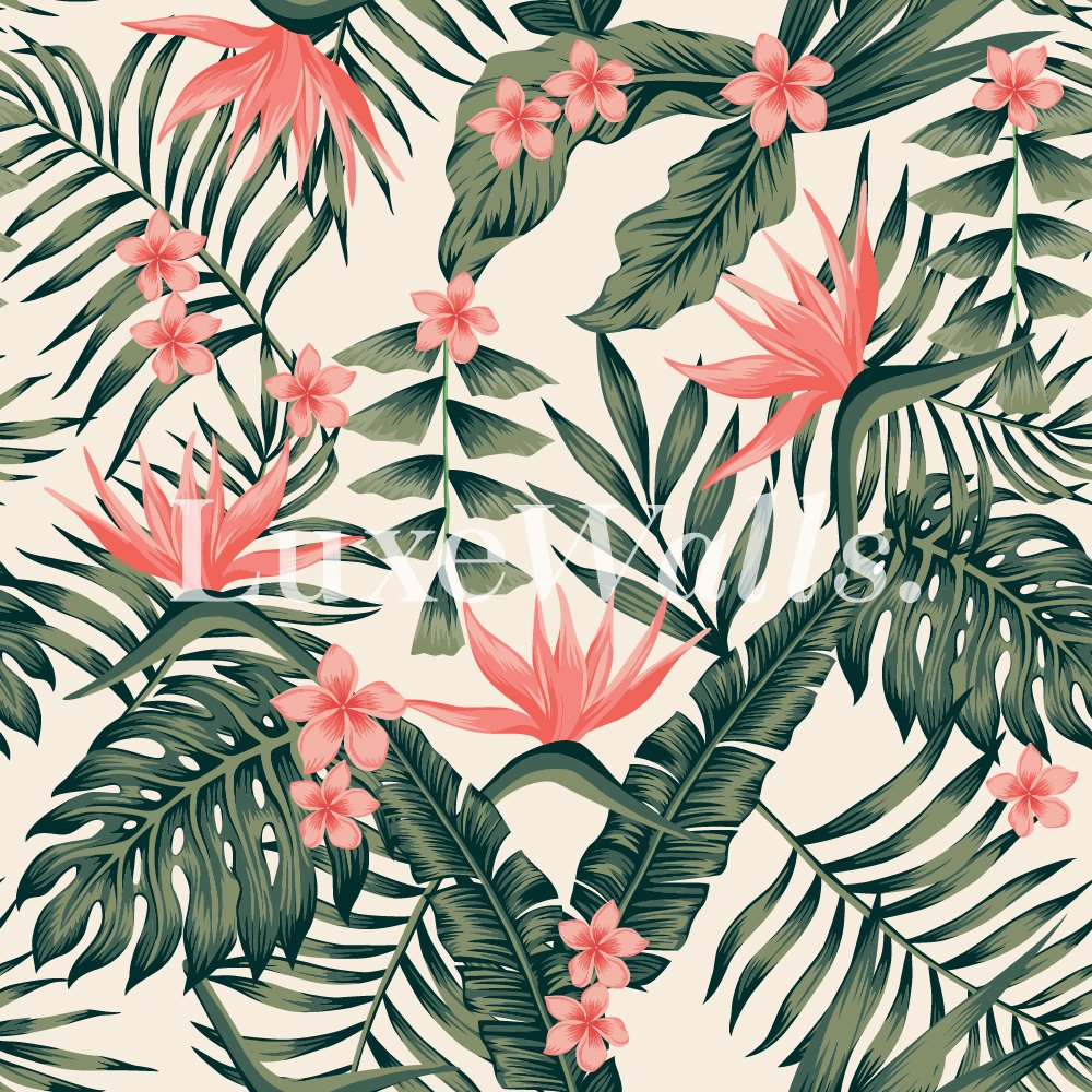 Free Download Floral Wallpaper Removable And Reusable Wallpaper
